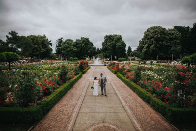 Portland rose garden wedding